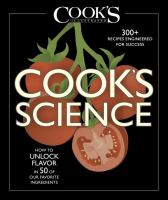 Cover art for Cook's Science