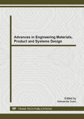 Book jacket for Advances in Engineering Materials, Product and Systems Design