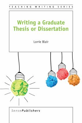 Image of cover to, Writing a Graduate Thesis or Dissertation, that links out to eBook resource.