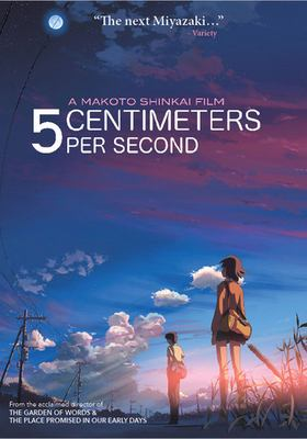 5 centimeters per second = [Byōsoku 5 senchimētoru]