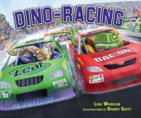 book jacket for Dino-Racing