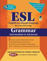 Cover of ESL Grammer Intermediate & Advanced
