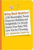 Book cover of Bring Back Beatrice!