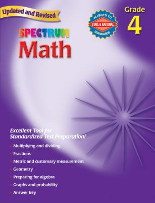 Book cover of Spectrum Math Grade 4