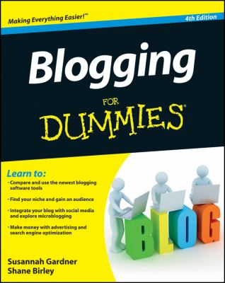 Book cover: Blogging for Dummies