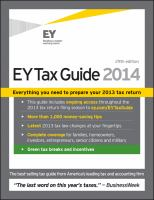 EY Tax Guide 2014 cover
