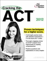 Cover of Cracking the ACT 2012