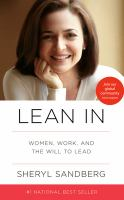 Lean In: Women, Work, and the Will to Lead (cover)