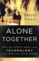 Book cover, Alone Together