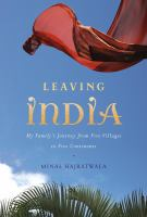 cover title: leaving india