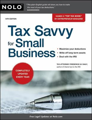 Book cover of Tax Savvy for Small Business