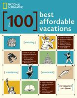 Book cover of The 100 Best Affordable Vacations