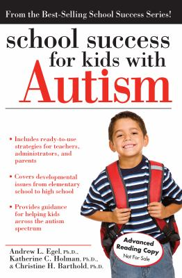 Cover of School Success for Kids with Autism