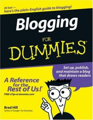 Details about Blogging for dummies