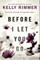 Before I Let You Go Cover Image