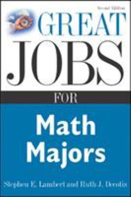 Great jobs for math majors book cover