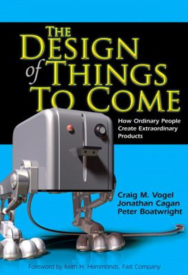 A book cover with an image of a machine that resembles a toaster on 2 mechanical legs on a blue and black background. The title text is yellow.