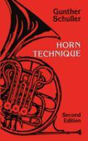 Horn Technique by Gunther Schuller