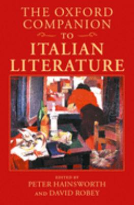Cover of The Oxford Companion to Italian Literature