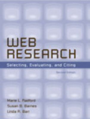 Cover Art for Web Research by Radford, Barnes and Barr
