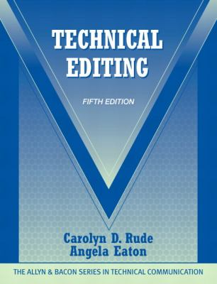 Cover art for Technical editing