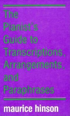 Bright purple cover of The Pianist's Guide to Transcriptions with blue and white text.