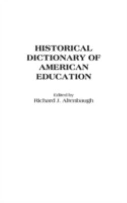 title page, plain white with black text, Historical Dictionary of American Education