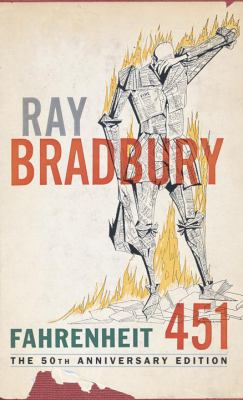 Book cover for Fahrenheit 451.