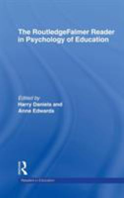 blue image of faint ripples, white text, cover of The Routledge Falmer reader in Psychology of education