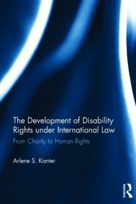 Book Cover for The Development of Disability Rights Under International Law. Blue abstract photo.