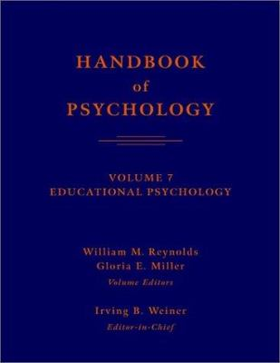 dark blue cover with dark orange-red text, cover of handbook of psychology Volume 7 educational psychology