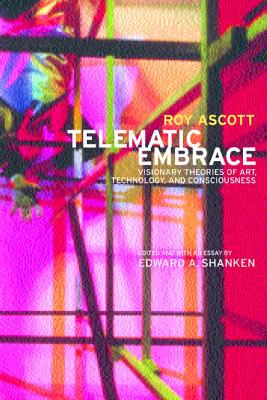 A book cover with a geometric abstract background image in red, pink, yellow and blue. The title text is white.