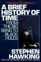 Book cover for The Brief History of Time by Stephen Hawking