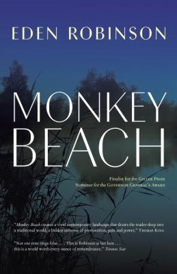 Cover image from Monkey Beach showing a landscape featuring water and shoreline.