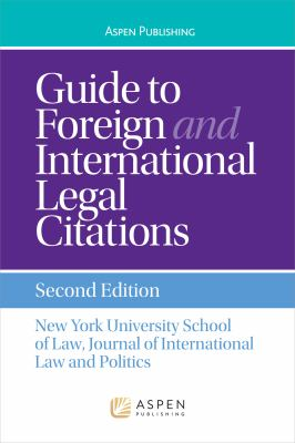 Cover of Guide to Foreign and International Legal Citations