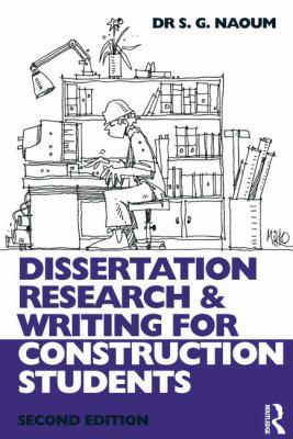 Cover art for Dissertation research and writing for construction students