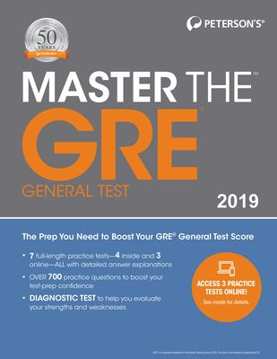 Peterson's master the GRE general test 2019.