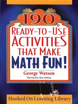 black background with title on a cinema style marquee, cover of 190 ready to use activities that make math fun!