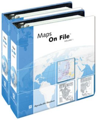 Maps on File Cover [Picture of two blue and white binders]