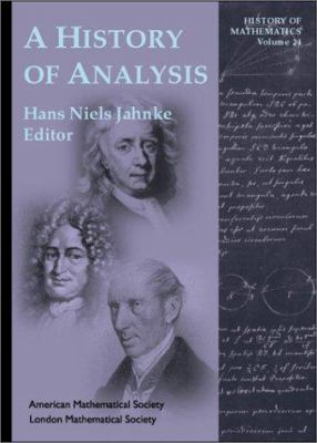 book cover:  A History of Analysis