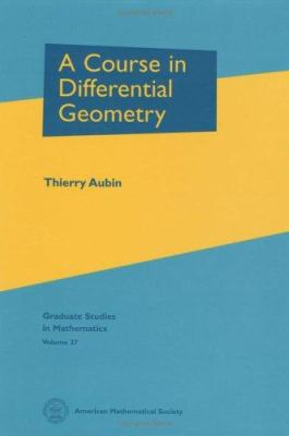 book cover: A Course in Differential Geometry