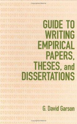 Book Cover for Guide to Writing Empirical Papers, Theses and Dissertations