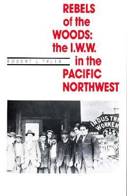 Black and white cover with title in red and a photo of a group of men standing together in from of an Industrial Workers of the World sign.