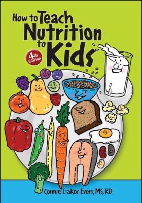 green book cover with cartoons of various healthy foods
