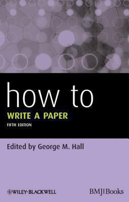 Cover art for How to Write a Paper (5th ed.)