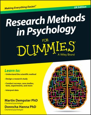 cover of the book research methods in psychology for dummies