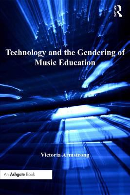 Black cover of Technology and the Gendering of Music Education with blue rays extending out from the center.