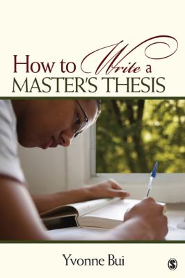Cover art for How to write a master's thesis