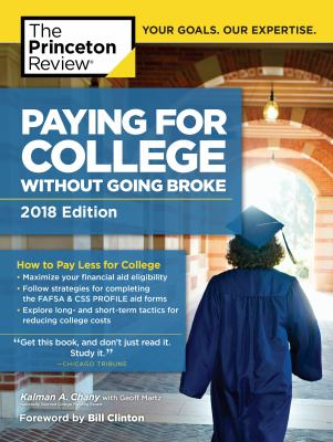 Paying for College Without Going Broke, 2018 Edition : How to Pay Less for College Cover Art
