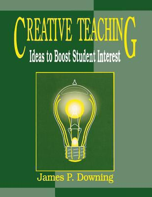 two toned green background, with a box containing and image of an incandescent light bulb illuminated, cover of creative teaching